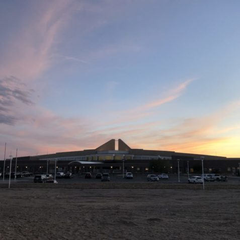 A Southwestern sunset over one of our partner hospitals, Northern Navajo Medical Center, Shiprock, NM.